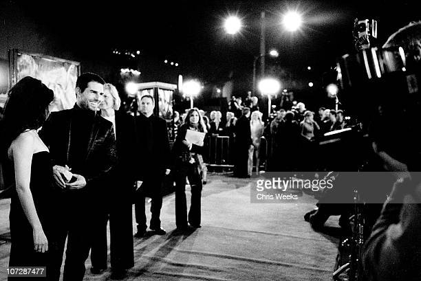 """Penelope Cruz and Tom Cruise during """"The Last Samurai"""" Los Angeles Premiere - Black & White Photography by Chris Weeks at Mann's Village Theater in..."""