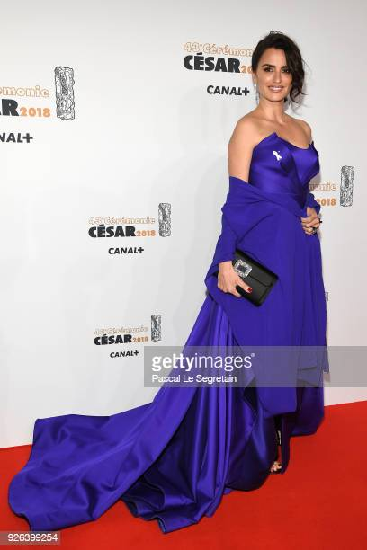 Penelope Cruz arrives at the Cesar Film Awards 2018 at Salle Pleyel on March 2 2018 in Paris France
