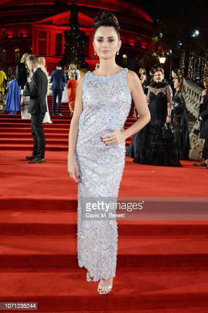 Penelope Cruz arrives at The Fashion Awards 2018 in partnership with Swarovski at the Royal Albert Hall on December 10 2018 in London England