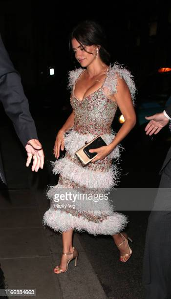 Penelope Cruz arrives back at her hotel after attending Film4 Summer Screen Pain and Glory reception opening gala at Somerset House on August 08 2019...