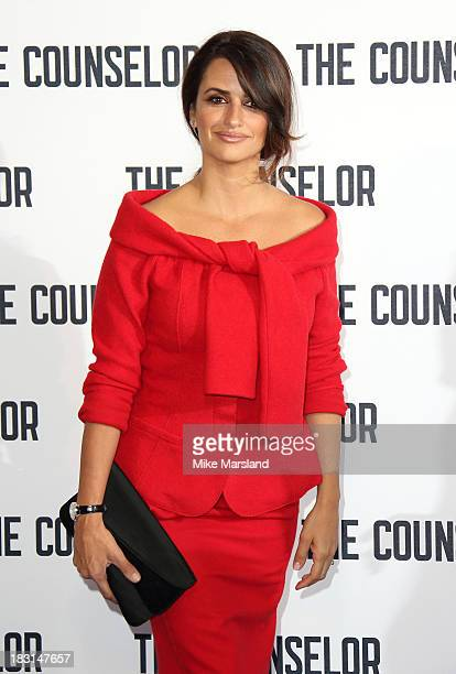Penelope Cruz attends a photocall for 'The Counselor' at The Dorchester on October 5 2013 in London England