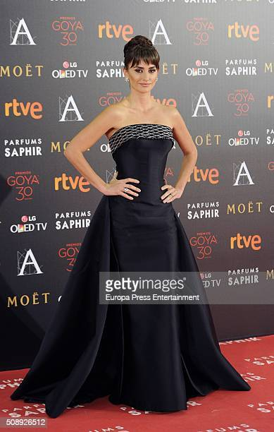 Penelope Cruz attends Goya Cinema Awards 2016 at Madrid Marriott Aud