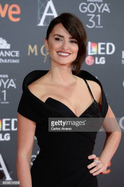 Penelope Cruz attends Goya Cinema Awards 2017 at Madrid Marriott Auditorium on February 4 2017 in Madrid Spain