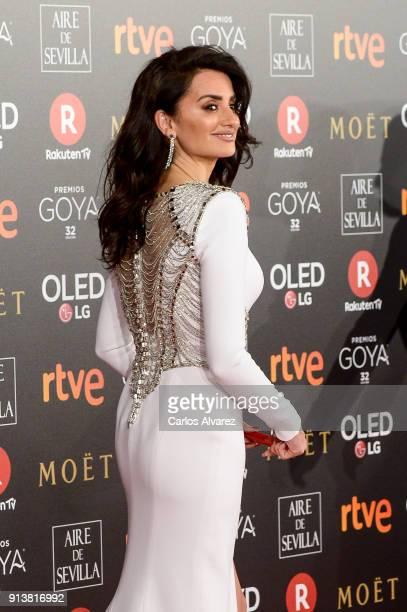 Penelope Cruz attends Goya Cinema Awards 2018 at Madrid Marriott Auditorium on February 3 2018 in Madrid Spain