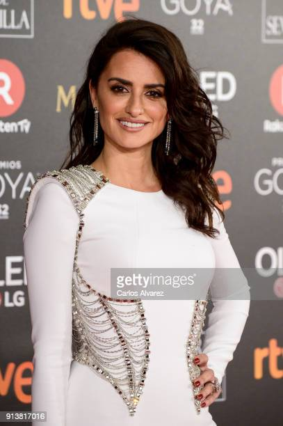Penelope Cruz attends Goya Cinema Awards 2018 at Madrid Marriott Auditorium on February 3 2018 in Madrid Spain