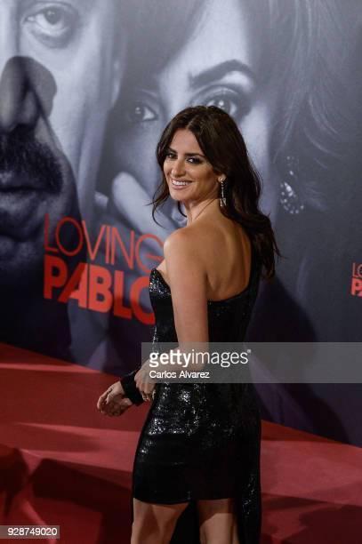Penelope Cruz attends 'Loving Pablo' Madrid Premiere on March 7 2018 in Madrid Spain