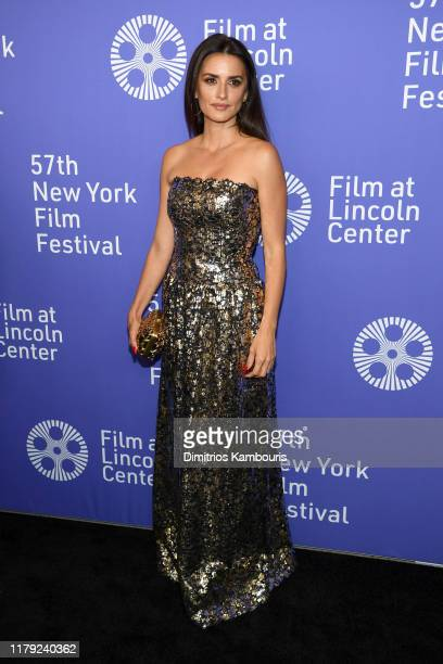 "Penelope Cruz attends the 57th New York Film Festival ""Wasp Network"" arrivals at Alice Tully Hall, Lincoln Center on October 05, 2019 in New York..."