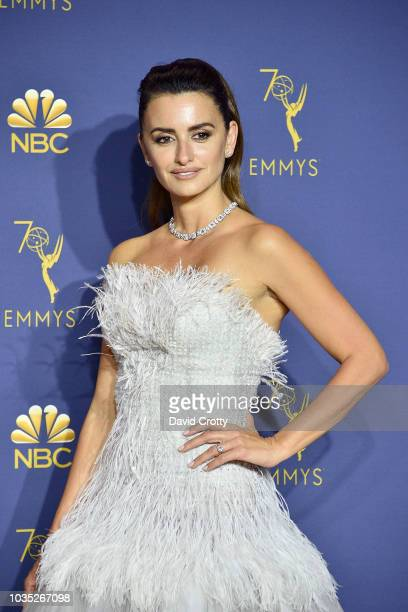 Penelope Cruz attends the 70th Emmy Awards - Press Room at Microsoft Theater on September 17, 2018 in Los Angeles, California.
