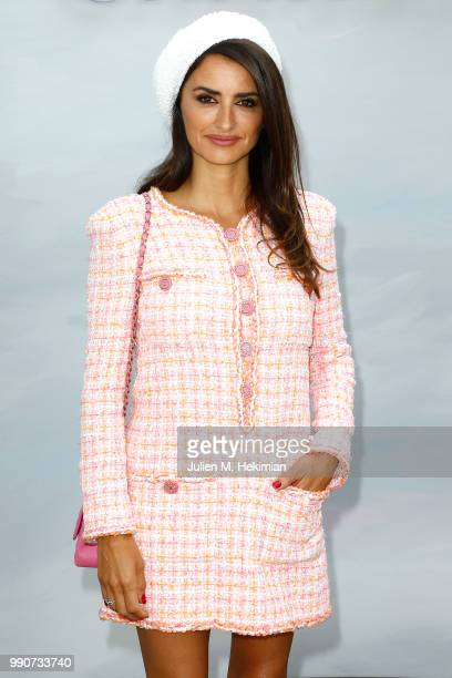 Penelope Cruz attends the Chanel Haute Couture Fall Winter 2018/19 show at Le Grand Palais on July 3 2018 in Paris France