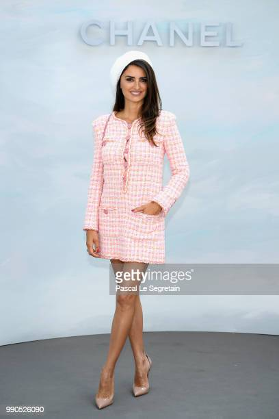 Penelope Cruz attends the Chanel Haute Couture Fall Winter 2018/2019 show as part of Paris Fashion Week on July 3 2018 in Paris France