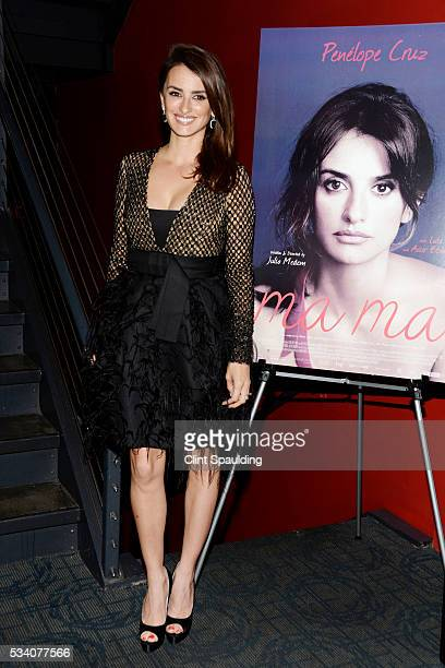Penelope Cruz attends The Cinema Society and Chopard Host a Screening of Oscilloscope's 'ma ma' at Landmark Sunshine Theatre on May 24 2016 in New...