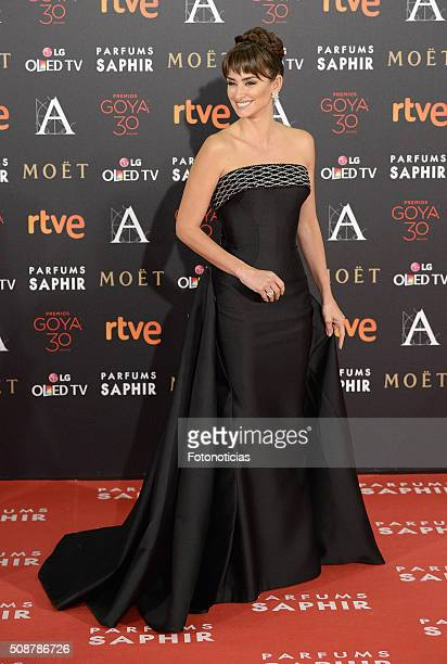Penelope Cruz attends the Goya Cinema Awards 2016 Ceremony at Madrid Marriott Auditorium on February 6, 2016 in Madrid, Spain.