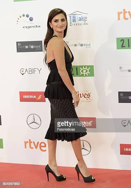 Penelope Cruz attends the Jose Maria Forque Awards at the Palacio de Congresos on January 11 2016 in Madrid Spain