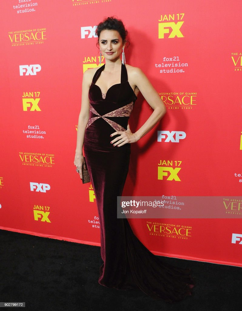 Penelope Cruz attends the Los Angeles Premiere 'The Assassination Of Gianni Versace: American Crime Story' at ArcLight Hollywood on January 8, 2018 in Hollywood, California.