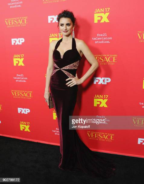 Penelope Cruz attends the Los Angeles Premiere 'The Assassination Of Gianni Versace American Crime Story' at ArcLight Hollywood on January 8 2018 in...