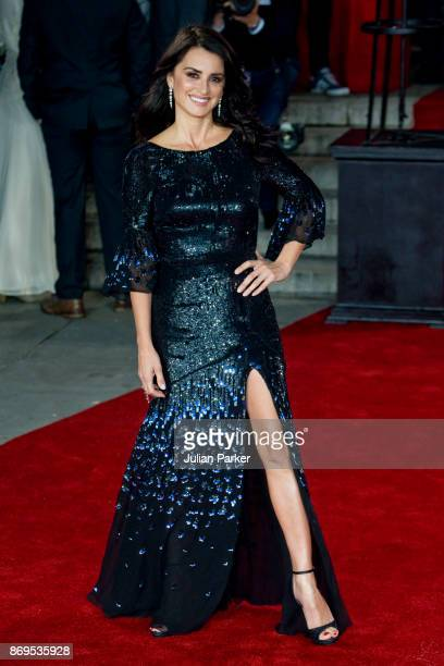Penelope Cruz attends the 'Murder On The Orient Express' World Premiere held at Royal Albert Hall on November 2, 2017 in London, England.