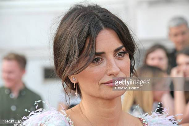 Penelope Cruz attends the opening night of Film4 Summer Screen at Somerset House featuring the UK Premiere of Pain And Glory on August 8 2019 in...