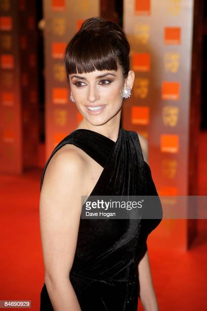 Penelope Cruz attends The Orange British Academy Film Awards held at the Royal Opera House Covent Garden on February 8 2009 in London England