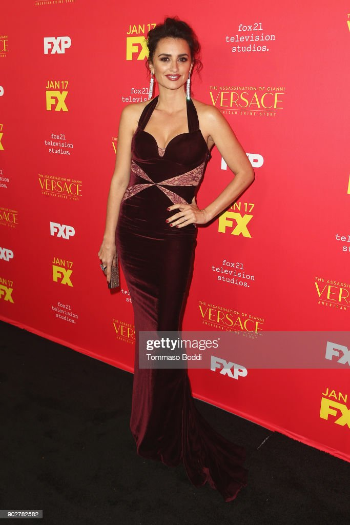 Penelope Cruz attends the Premiere Of FX's 'The Assassination Of Gianni Versace: American Crime Story' at ArcLight Hollywood on January 8, 2018 in Hollywood, California.