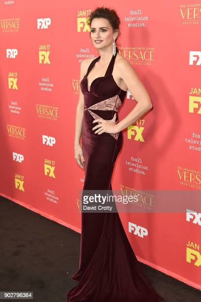 Penelope Cruz attends the Premiere Of FX's 'The Assassination Of Gianni Versace American Crime Story' Arrivals at ArcLight Hollywood on January 8...