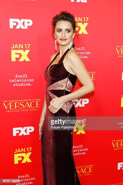 Penelope Cruz attends the premiere of FX's 'The Assassination Of Gianni Versace American Crime Story' at ArcLight Hollywood on January 8 2018 in...