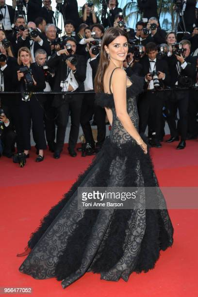 """Penelope Cruz attends the screening of """"Everybody Knows """" and the opening gala during the 71st annual Cannes Film Festival at Palais des Festivals on..."""