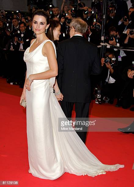 Penelope Cruz attends the Vicky Christina Barcelona Premiere at the Palais des Festivals during the 61st Cannes International Film Festival on May 17...