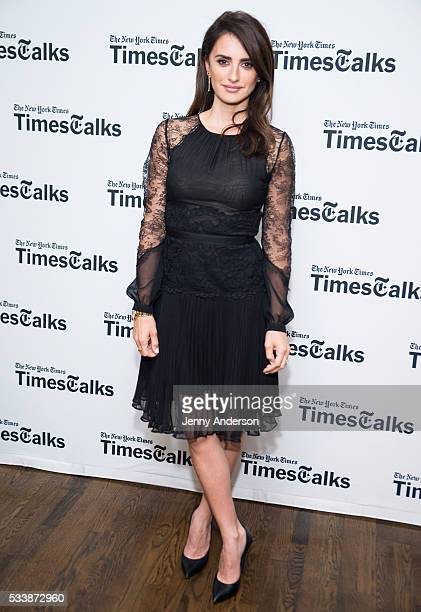 Penelope Cruz attends TimesTalks at Florence Gould Hall on May 23 2016 in New York City