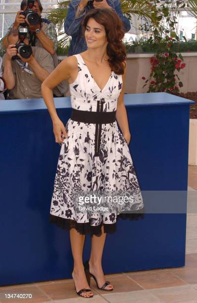 """Penelope Cruz during 2006 Cannes Film Festival - """"Volver"""" Photo Call at Palais du Festival in Cannes, France."""