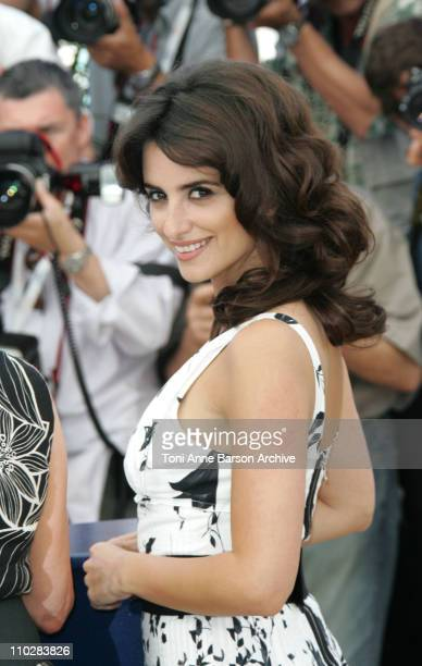 Penelope Cruz during 2006 Cannes Film Festival Volver Photocall at Palais du Festival in Cannes France