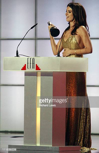 Penelope Cruz during 2006 European Film Awards - Ceremony in Warsaw, Poland.