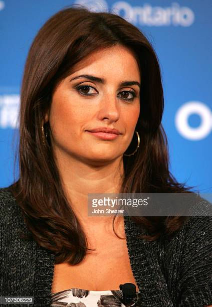 Penelope Cruz during 31st Annual Toronto International Film Festival Volver Press Conference at Sutton Place Hotel in Toronto Canada