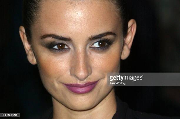 Penelope Cruz during 'Don't Move' London Screening Outside Arrivals at UGC Haymarket in London Great Britain