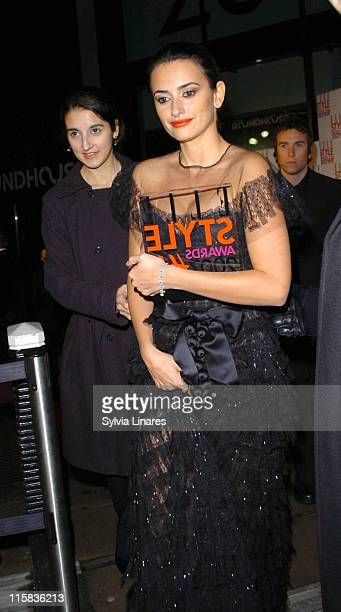 Penelope Cruz during Elle Style Awards 2007 Departures at Roundhouse in London Great Britain