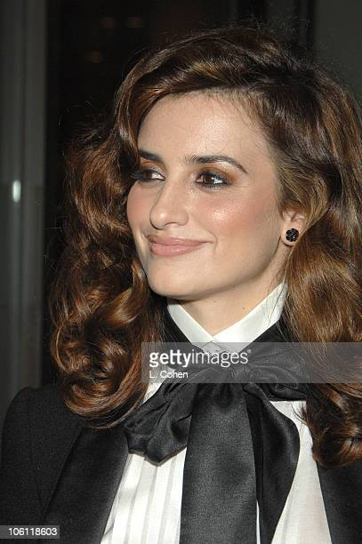 Penelope Cruz during Hollywood Film Festival 10th Annual Hollywood Awards Red Carpet at The Beverly Hilton Hotel in Beverly Hills California United...