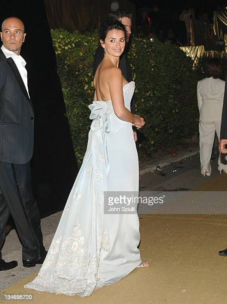 Penelope Cruz during Naomi Campbell's Le Carnival D'Or Party in Aid of The Nelson Mandela Children's Fund Party at Palm Beach in Cannes France