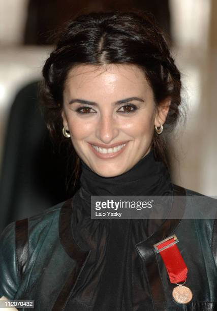 Penelope Cruz during Penelope Cruz Receives Zaragoza's City Hall Silver Medal at Zaragoza`s City Hall in Zaragoza Spain