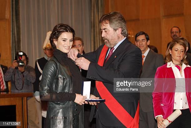 Penelope Cruz during Penelope Cruz Receives Zaragoza`s City Hall Silver Medal in Zaragoza Spain