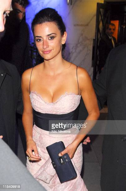 Penelope Cruz during Volver London Film Premiere After Party at Mirabelle in London Great Britain