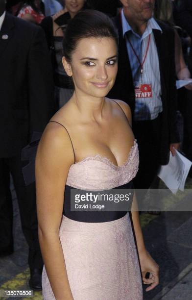 "Penelope Cruz during ""Volver"" London Premiere - Outside Arrivals at Curzon Mayfair in London, Great Britain."