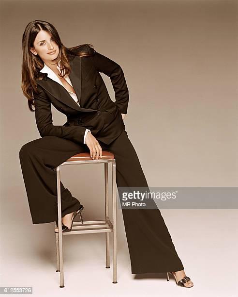 Penelope Cruz in a Black Suit