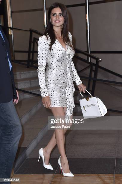 Penelope Cruz is seen arriving at Vanity Fair dinner during the 71st annual Cannes Film Festival at on May 9 2018 in Cannes France