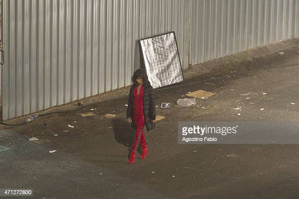 Penelope Cruz is seen on the set of Zoolander 2 on April 26 2015 in Rome Italy