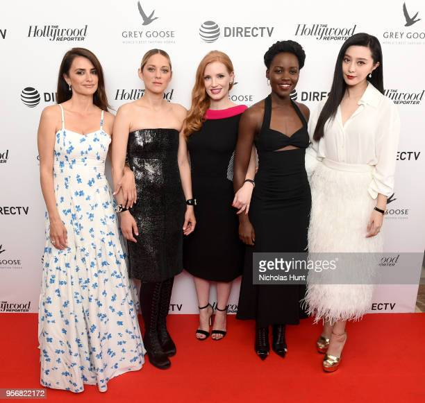Penelope Cruz, Marion Cotillard, Jessica Chastain, Lupita Nyong'o, and Fan Bingbing at the '355' cocktail party, with DIRECTV and The Hollywood...