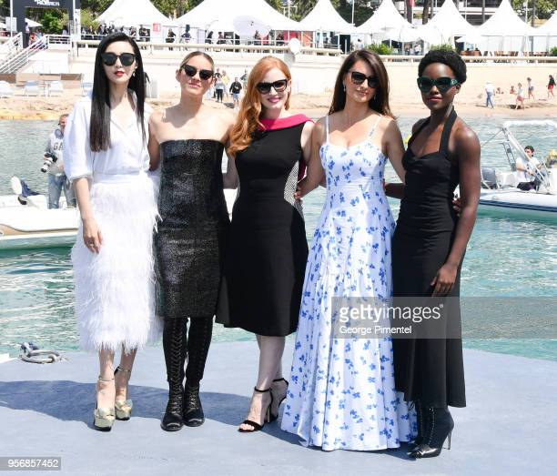 Penelope Cruz Marion Cotillard Jessica Chastain Lupita Nyong'o and Fan Bingbing attend the photocall for '355' during the 71st annual Cannes Film...