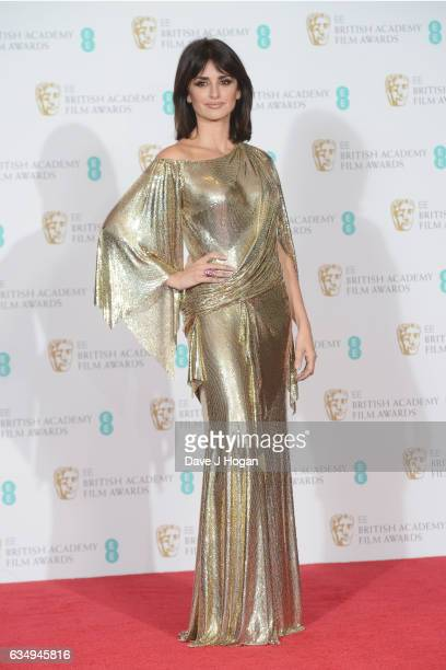 Penelope Cruz poses in the winners room at the 70th EE British Academy Film Awards at Royal Albert Hall on February 12 2017 in London England
