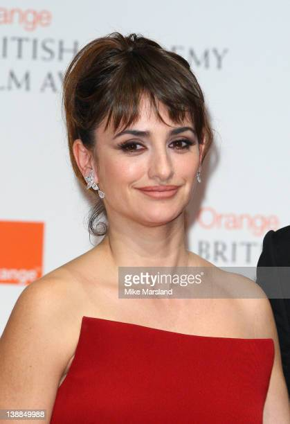 Penelope Cruz seen at the press room at Orange British Academy Film Awards 2012 at The Royal Opera House on February 12 2012 in London England