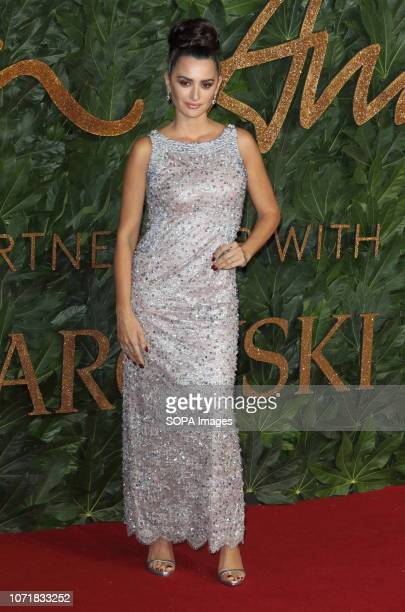 Penelope Cruz seen on the red carpet during the Fashion Awards 2018 at the Royal Albert Hall Kensington in London