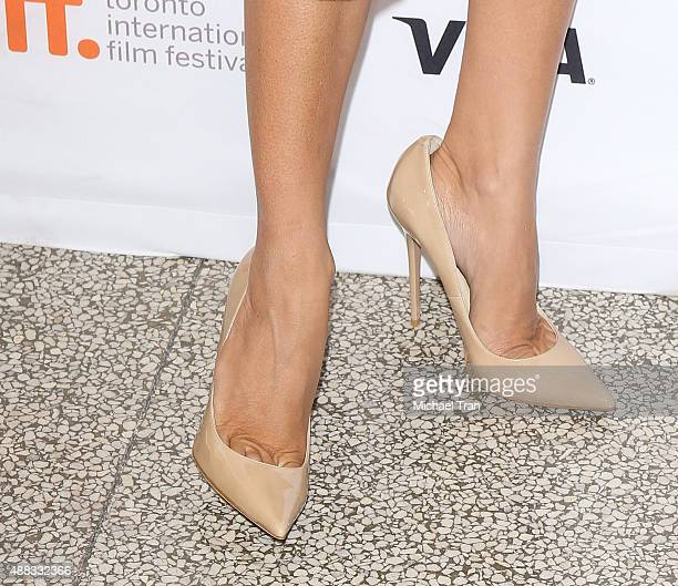 Penelope Cruz shoe detail arrives at the 'Ma Ma' premiere during 2015 Toronto International Film Festival held at The Elgin on September 15 2015 in...