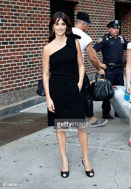 Penelope Cruz visits the 'Late Show With David Letterman' at the Ed Sullivan Theater on August 6 2008 in New York City